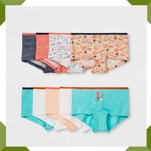 Girls' Boy Shorts Pack of 9- Size 14